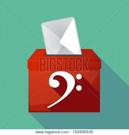 Long Shadow Ballot Box With An F Clef
