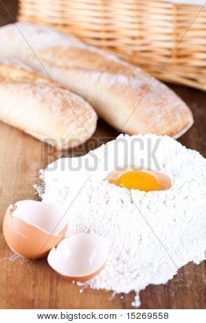 Bread, Eggs And Flour