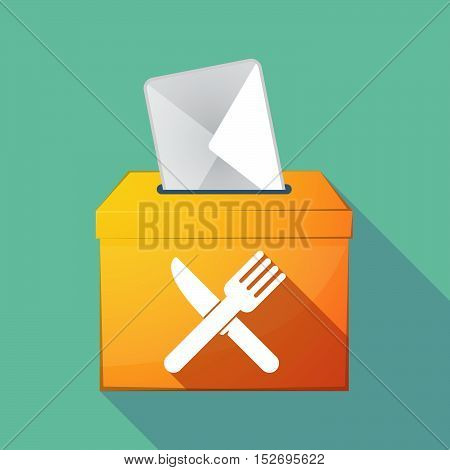 Long Shadow Ballot Box With A Knife And A Fork