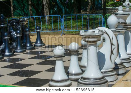 Texture, Background. Background. Big Chess In The Park