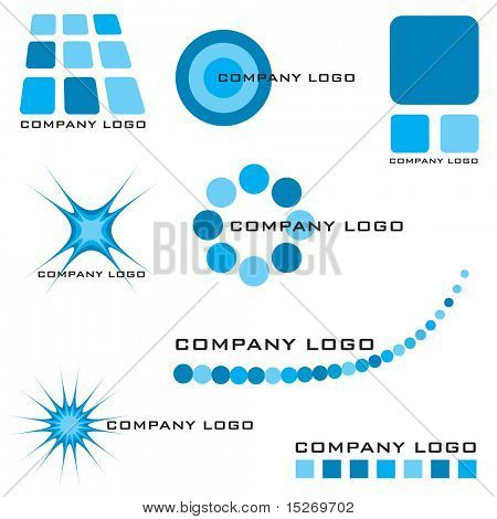 Collection of company logos solutions with many variations