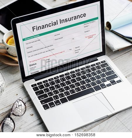 Financial Insurance Loan Banking Credit Debt Concept