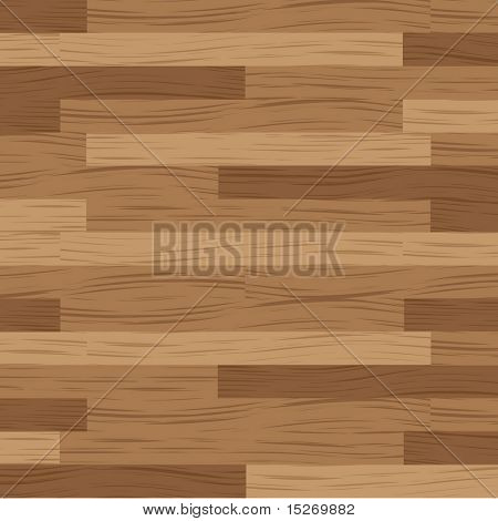 Wooden flooring running in a horizontal direction in brown