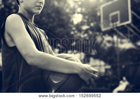 Basketball Athlete Sport Skill Playing Exercise Concept