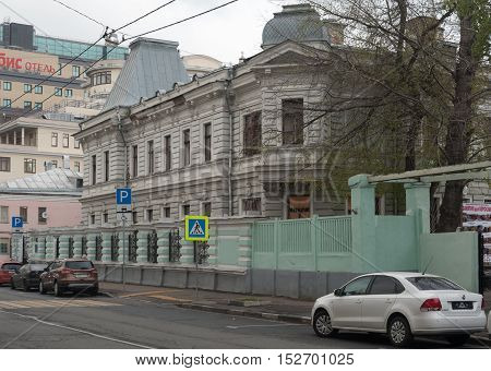 MOSCOW - OCTOBER 20: Mikhaylov urban homestead on Bakhrushina street on October 20 2016 in Moscow. Children's Art House