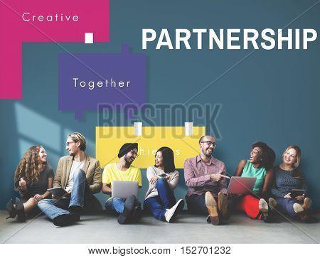 Achievement Teamwork Creative Together Collaboration Graphic Concept