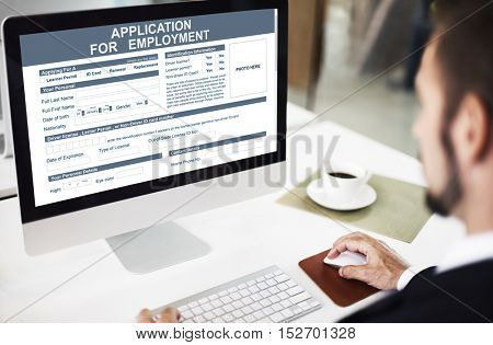 Application For Employment Job Concept