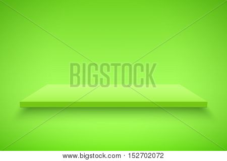 Light box with Green platform on Green backdrop. Editable Background Vector illustration.