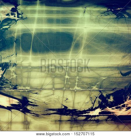 Glamour vintage frame, decorative grunge background. Aged texture with different color patterns: yellow (beige); brown; gray; blue; cyan