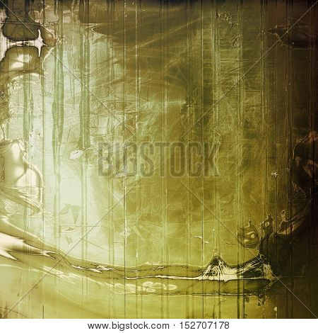 Old style design, textured grunge background with different color patterns: yellow (beige); brown; gray; green; black; white