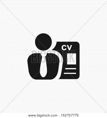 Employee icon. Recruitment sign. Headhunting vector illustration.