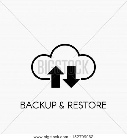 Data Cloud Icon. Backup And Restore Sign