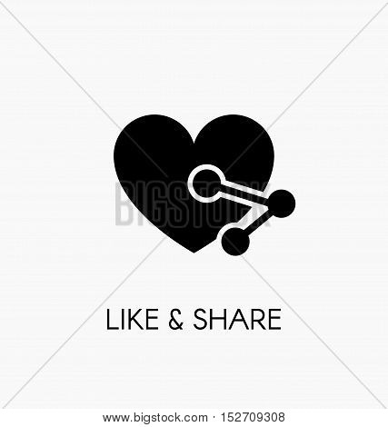 Like And Share Icon Vector Illustration