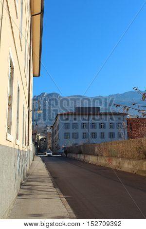 City Street In Trento, Italy