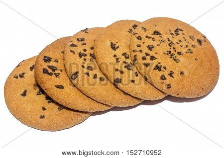 Round Cookies Isolated Decorative Rope Tied,