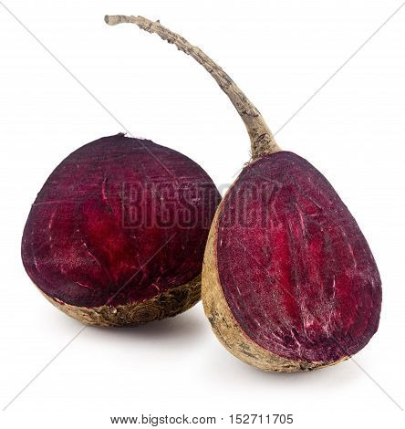 Fresh Vitamin Burgundy Beet Isolated On White Background