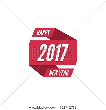 Happy new year 2017 theme. for greeting card, flyer, invitation, poster, brochure, banner, calendar Christmas Meeting events Vector