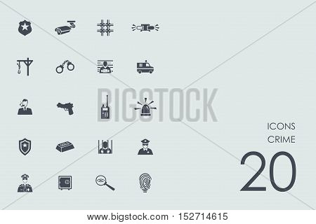 crime vector set of modern simple icons
