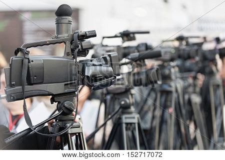 Cameras At Publicity Event
