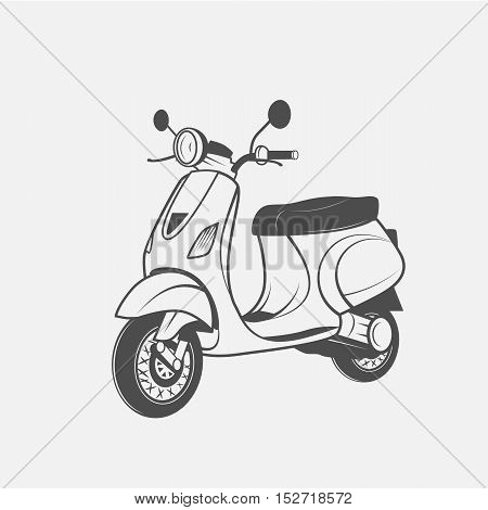 Scooter bike vector image - vector and illustration
