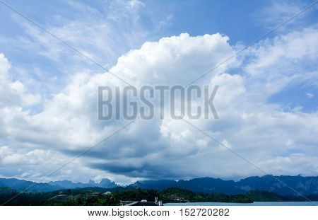 Wonderful cloud in big dam on day light