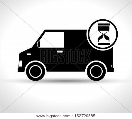 fast truck delivery transporting icon vector illustration