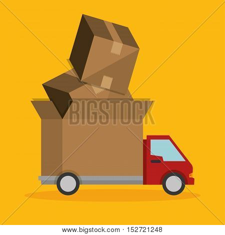 express truck delivery transport icon vector illustration