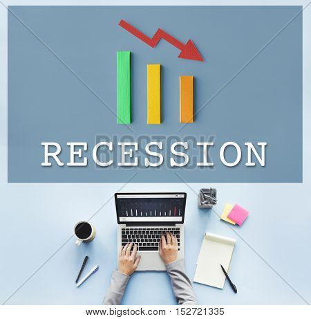 Finance Economic Recession Analysis Concept
