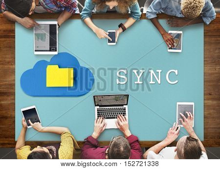 Technology Syncing Communication Internet Concept