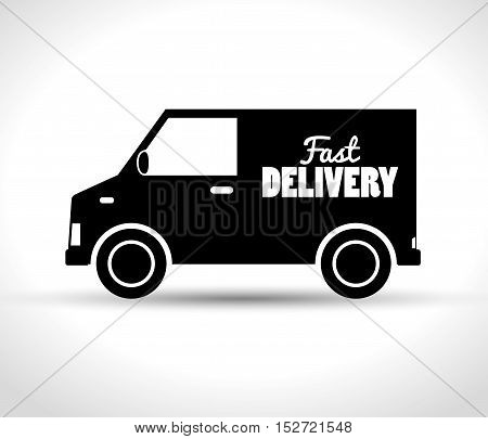 delivery fast truck transporting design vector illustration