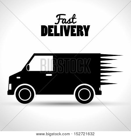 fast delivery shipping business icon vector illustration