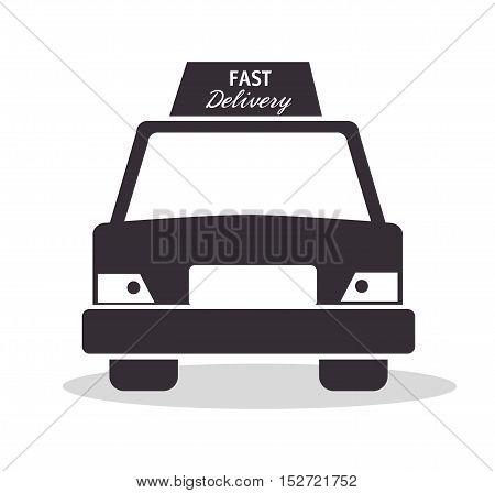 car fast delivery service design icon vector illustration