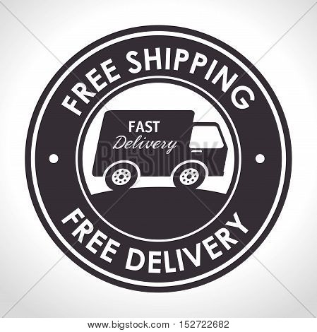 free shipping fast delivery banner vector illustration
