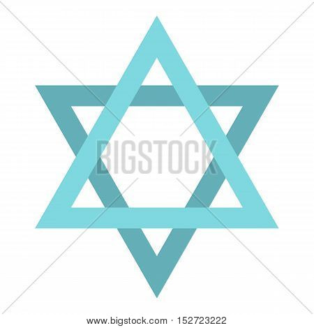 Star of David icon. Flat illustration of star of David vector icon for web design