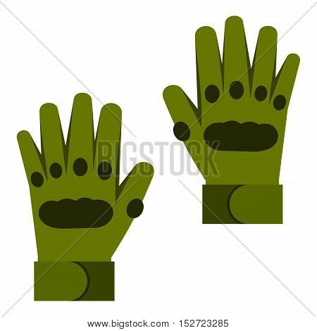 Pair of paintball gloves icon. Flat illustration of gloves vector icon for web design