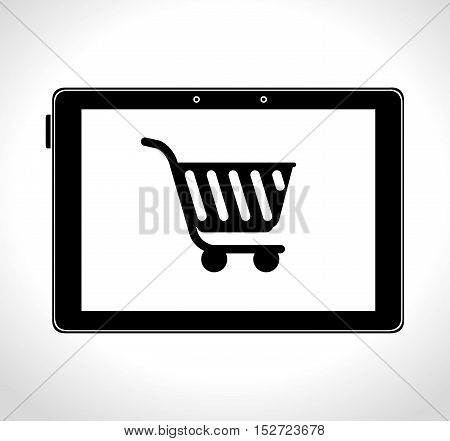 shopping cart online delivery icon design vector illustration