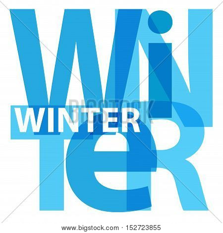 Vector winter. Isolated confused broken colorful text
