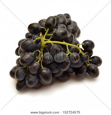 Grapes isolated on white background. Flat. Macro.