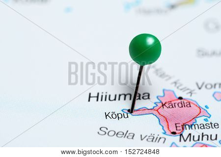 Kopu pinned on a map of Estonia