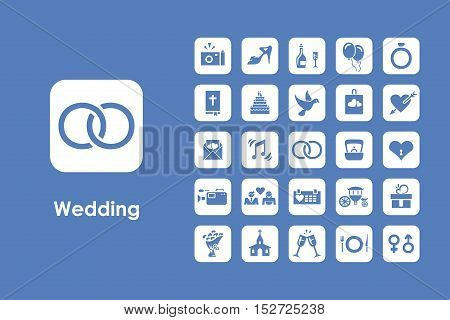 It is a set of wedding simple web icons