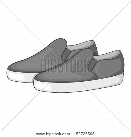 Loafers icon. Gray monochrome illustration of loafers vector icon for web