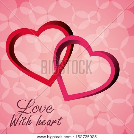 intertwined hearts love with heart icon vector illustration eps 10
