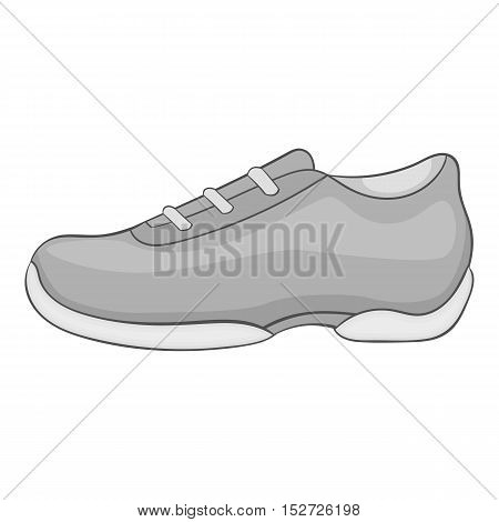 Men sneakers icon. Gray monochrome illustration of men sneakers vector icon for web
