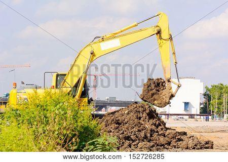 Bulldozer Is Working