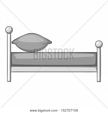 Children bed icon. Gray monochrome illustration of children bed vector icon for web