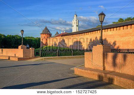 The Velikiy Novgorod Kremlin Walls And Towers, Russia