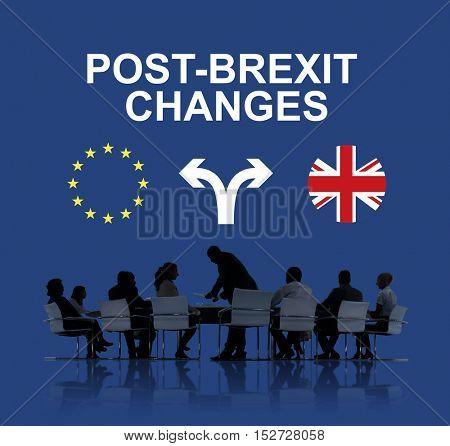 Brexit Bremain UK EU Referendum Concept