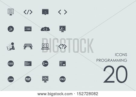 programming vector set of modern simple icons