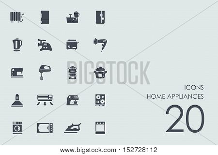 home appliances vector set of modern simple icons