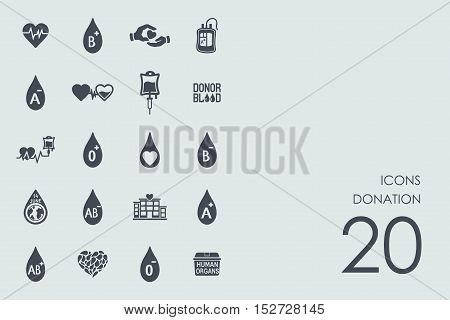 donation vector set of modern simple icons